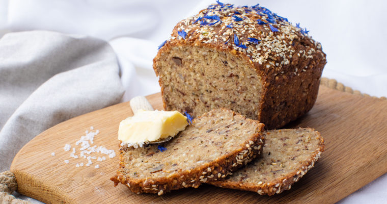 Cornflower white keto bread