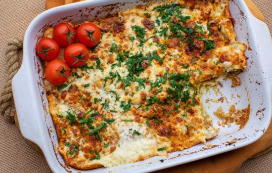 Oven baked keto omelet with veggies