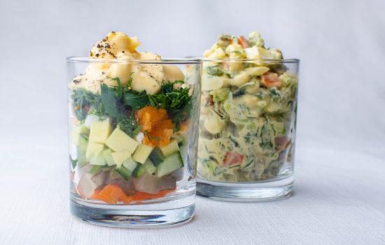 Layered keto salad