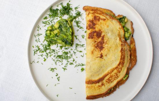 Keto cream cheese savoury pancakes