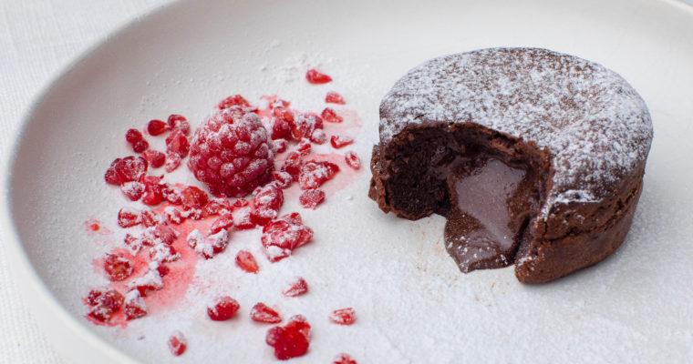 Keto chocolate lava cake