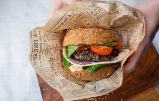 Delicious keto hamburger